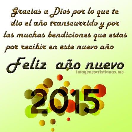 Frases De Feliz Año 2015 Con Imagenes Cristianas Para Dedicar