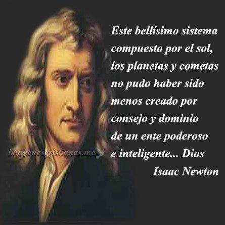 Isac Newton Existencia De Dios