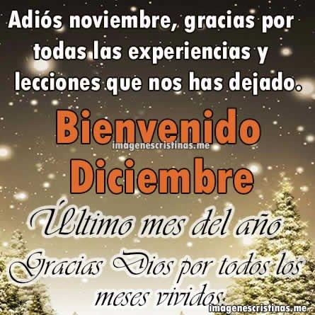 Imagenes Cristianas Bienvenido Diciembre Frases Lindas