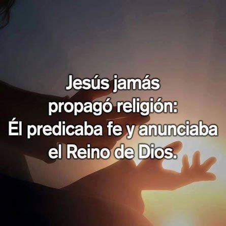 Jesus No Propago Religion