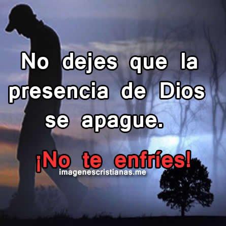 No Dejes Que La Presencia De Dios Se Aparte