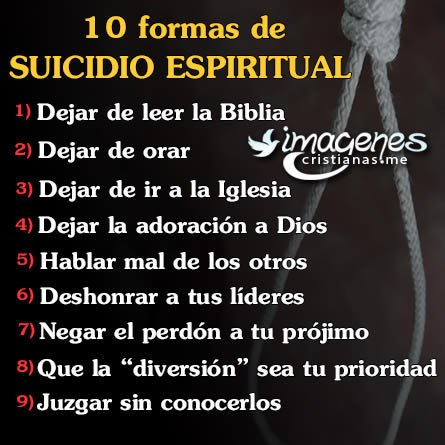 Reflexiones Cristianas Suicidio Espiritual