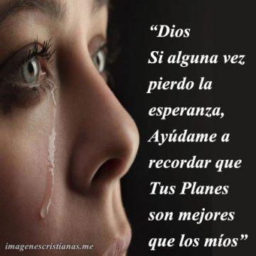 Dios Recuerdame Tus Planes