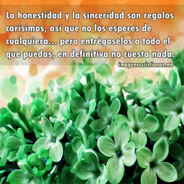 Imagenes Cristianas La Honestidad Y La Sinceridad