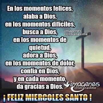 Imagenes De Miercoles Santo Cristianas Con Frases