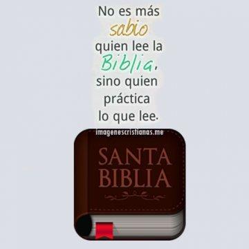 No Es Mas Sabio Quien Lee La Biblia